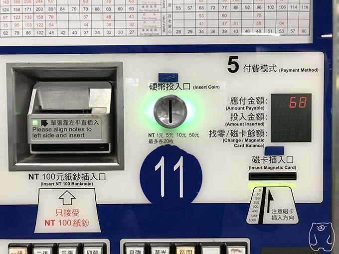 高雄から台南への行き方|お金の支払い