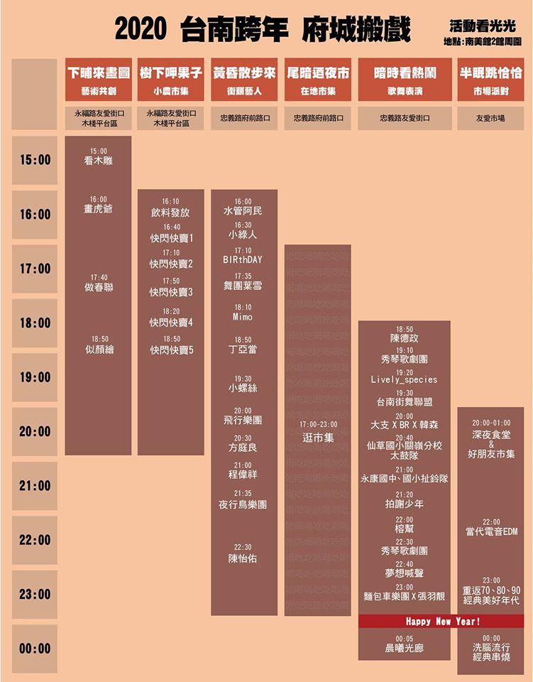 台南跨年 府城搬戲 イベントスケジュール