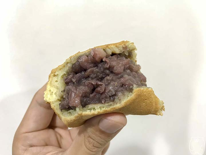 阿桃紅豆餅|紅豆餅の中身