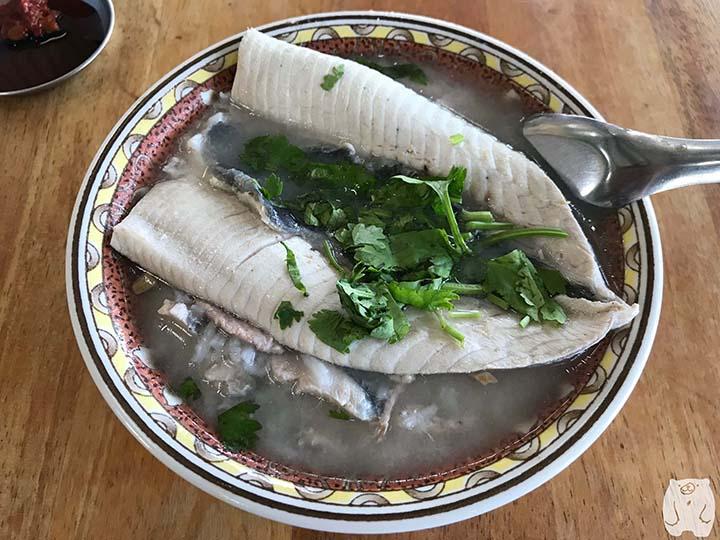 阿憨鹹粥|虱目魚肚粥:130元