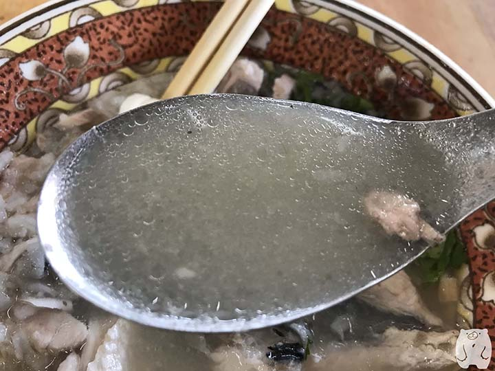 阿憨鹹粥|お粥のスープ