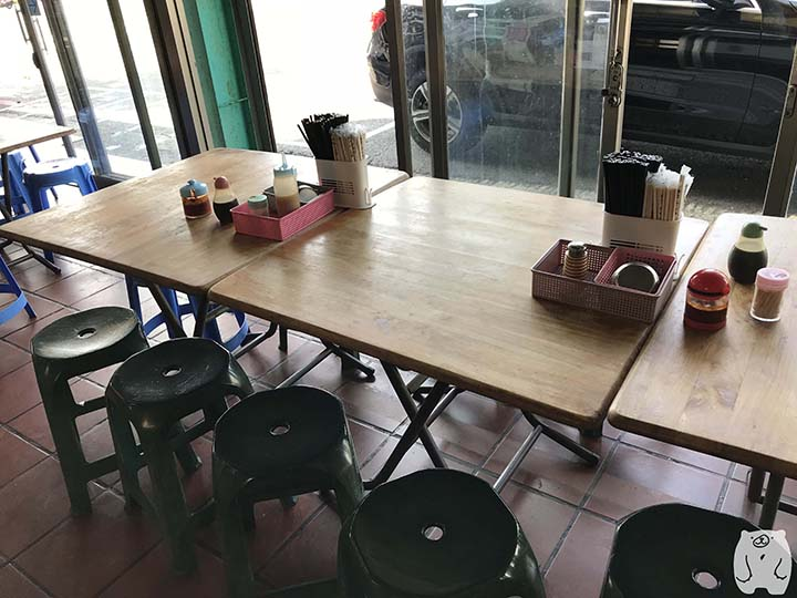阿憨鹹粥|テーブル
