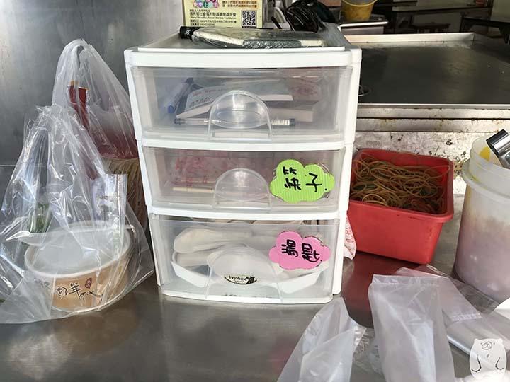集品蝦仁飯|持ち帰り用の食器