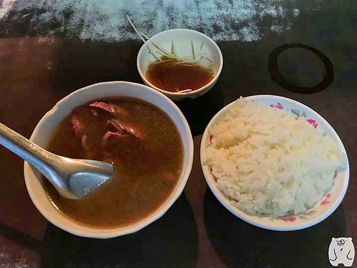 六千牛肉湯|牛肉湯と白飯