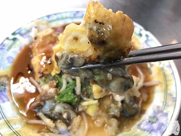 石精臼蚵仔煎|蚵仔煎の牡蠣と卵