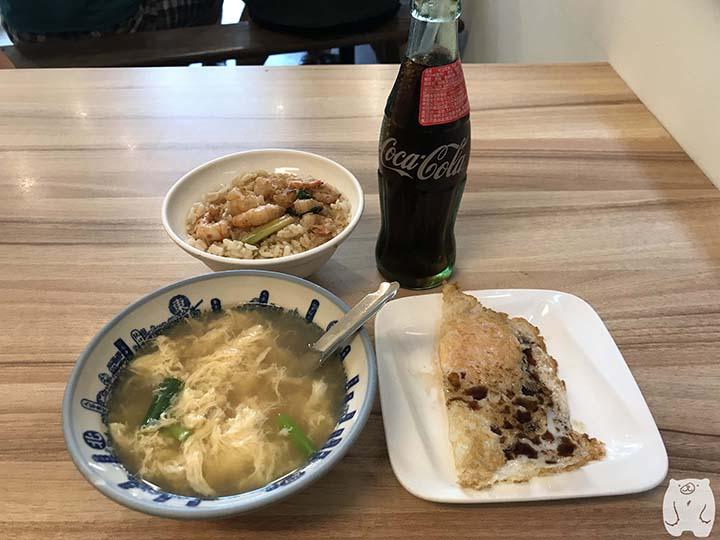 矮仔成蝦仁飯|注文した料理