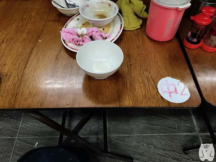 小杜意麵|テーブルの番号