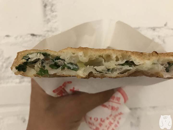 鄭記蔥肉餅|蔥肉餅の中身