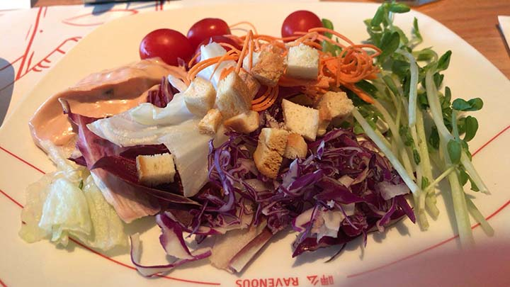 甘粹レストラン|食べた料理その1|サラダ