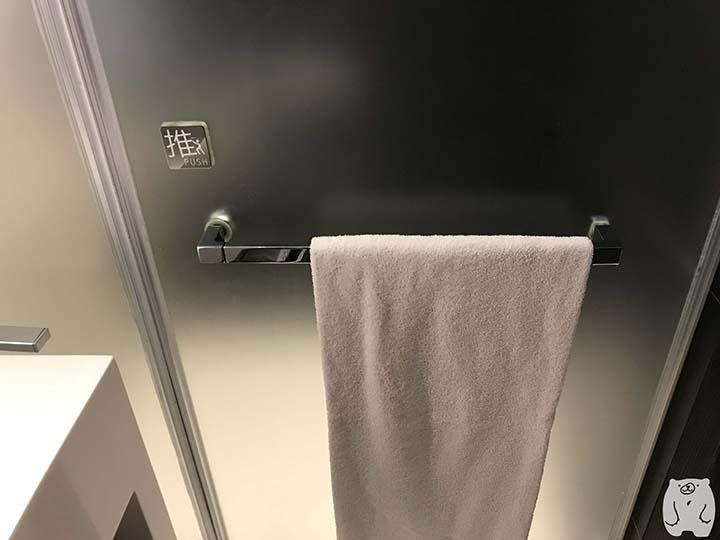 台南老爺行旅(ザ・プレイス 台南)|シャワールームの扉