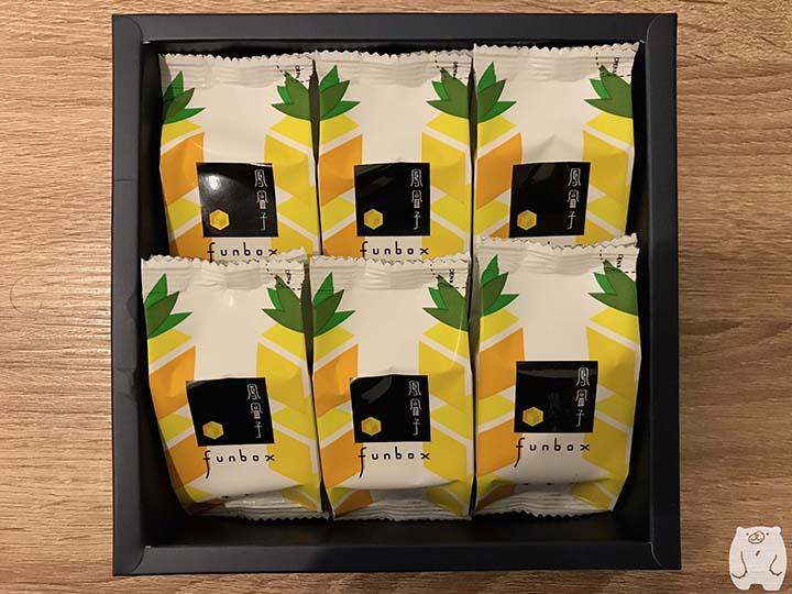 鳳盒子funboxのパイナップルケーキの包装