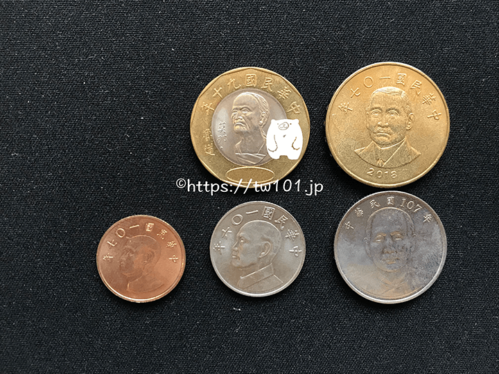 硬貨の比較