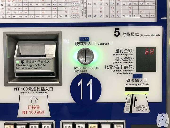 台湾鉄道「高雄駅」 運賃を支払う