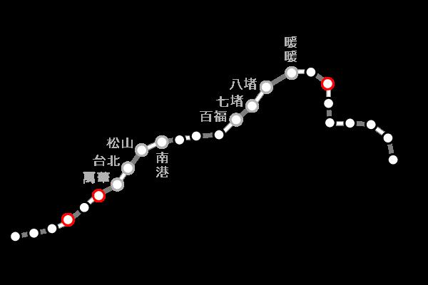 台湾鉄道(台鉄)|新北の路線図